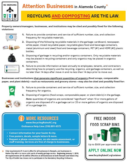 Haulers Support Materials | Recycling Rules Alameda County