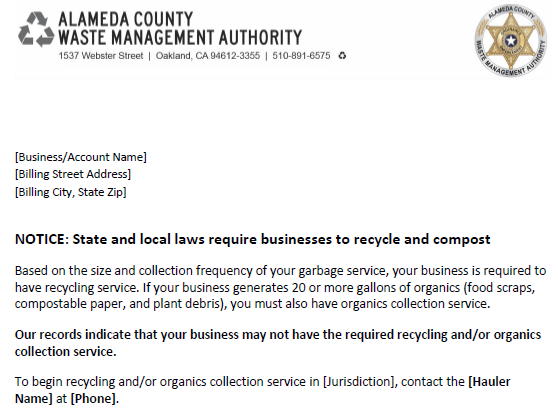 Schools Support Materials | Recycling Rules Alameda County